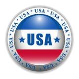 按钮爱国美国 免版税库存照片