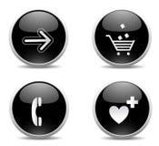 按钮现代万维网 库存照片