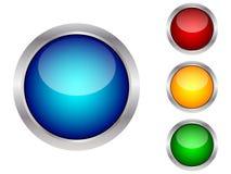 按钮现代万维网 免版税库存图片