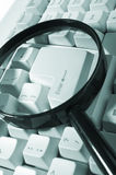 按钮玻璃关键扩大化 免版税库存图片
