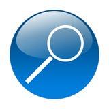 按钮玻璃扩大化 免版税图库摄影