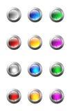 按钮玻璃集 免版税库存图片