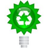 按钮生态符号 免版税库存图片