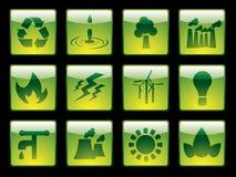 按钮生态集 免版税图库摄影