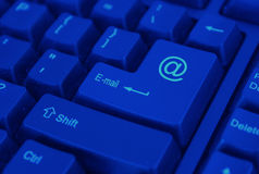按钮电子邮件 库存图片