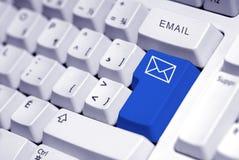按钮电子邮件 免版税库存照片