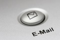 按钮电子邮件 免版税图库摄影