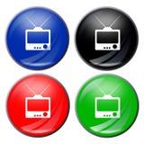 按钮电视 免版税图库摄影