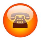 按钮电话 免版税库存图片