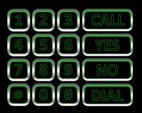 按钮电话 库存照片