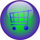 按钮界面万维网 免版税库存照片