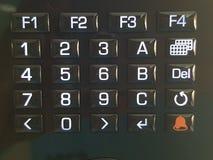按钮盘区 免版税库存图片