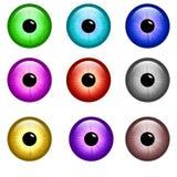 按钮眼睛 免版税图库摄影