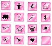 按钮粉红色 免版税库存图片