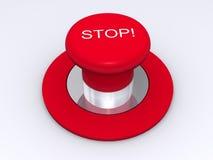 按钮红色终止 库存照片
