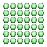 按钮绿色万维网 皇族释放例证