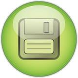 按钮绿色保存 库存图片