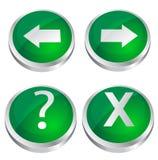 按钮绿色发光的万维网 库存图片
