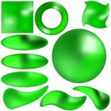 按钮绿色玉 免版税库存图片
