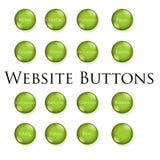 按钮绿色网站 图库摄影
