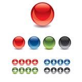 按钮胶凝体玻璃万维网 免版税图库摄影