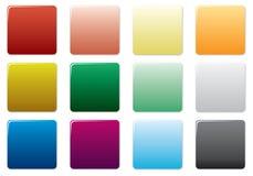 按钮色的自由集 免版税图库摄影