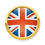按钮英国标志 库存例证