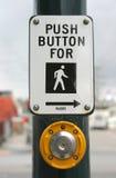 按钮行人穿越道 免版税库存图片