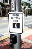 按钮行人穿越道 库存图片