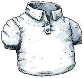 按钮衬衣t 皇族释放例证