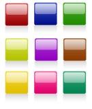 按钮被舍入的正方形 库存照片