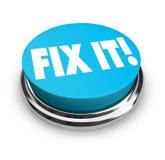 按钮解决 免版税库存图片