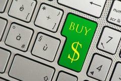 按钮计算机键盘进入购买 免版税库存图片