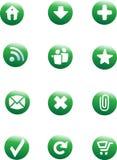 按钮设置了万维网 免版税库存照片