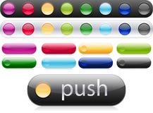 按钮设计万维网 向量例证