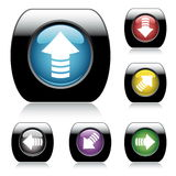 按钮设计光滑的向量万维网 免版税库存照片