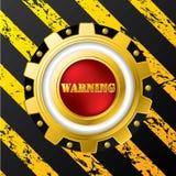 按钮设计行业警告 皇族释放例证