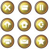按钮设计金子网站 免版税库存图片