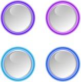 按钮设计集合向量万维网 免版税库存照片
