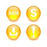 按钮象集合3D互联网网站 库存照片