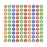 按钮象集合3D互联网网站bouton 免版税库存图片