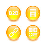 按钮象集合3D互联网网财务 库存照片