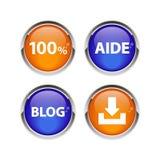 按钮象集合3D互联网网bouton 库存图片