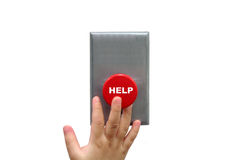 按钮购买权帮助 免版税库存照片