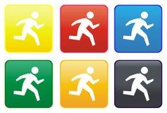 按钮赛跑者万维网 库存图片