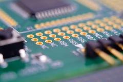 按钮连接处理器 免版税库存照片