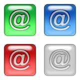 按钮邮件万维网 库存例证