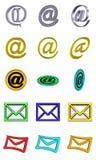 按钮邮件集 免版税库存照片