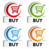按钮采购购物车项目购物 向量例证