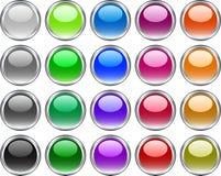 按钮金属向量 免版税库存照片